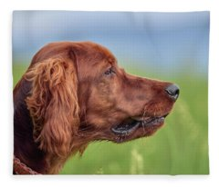 Head Study Fleece Blanket