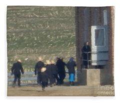 Heading Into The Schoolhouse Fleece Blanket