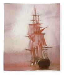 Heading To Salem From The Sea Fleece Blanket