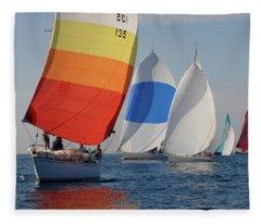 Heading Towind Windward Mark Fleece Blanket