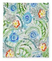 Healing Garden Fleece Blanket