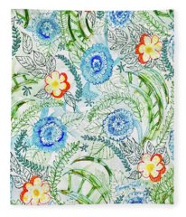 Healing Garden Fleece Blanket