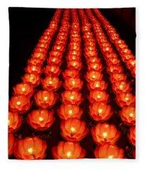 Healing Lights 1 Fleece Blanket