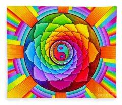 Healing Lotus Fleece Blanket