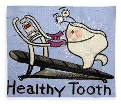 Healthy Tooth Fleece Blanket