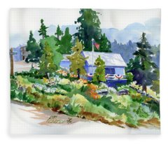 Hearse House Garden Fleece Blanket