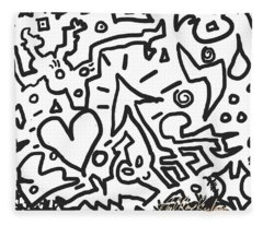 Heart Arow Bolt Fleece Blanket