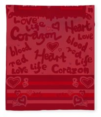 Heart Art Fleece Blanket
