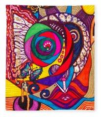 Heart Awakening - Iv Fleece Blanket