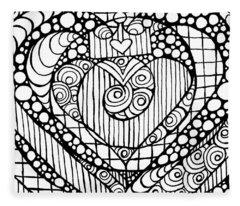 Heart Crown Tangle Fleece Blanket