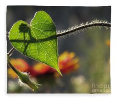 Heart Leaf 1 Fleece Blanket