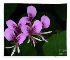 Heart Leaf Pelargonium Fleece Blanket