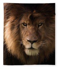 Heart Of A Lion - Wildlife Art Fleece Blanket