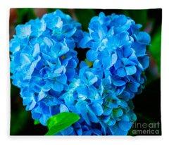 Heart Of Blue Fleece Blanket