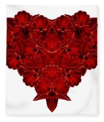 Heart Of Flowers T-shirt Fleece Blanket