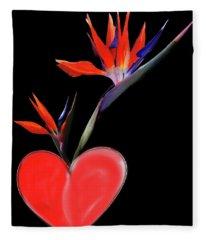 Heart  Of Paradise Fleece Blanket
