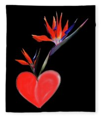 Heart  Of Paradise Fleece Blanket