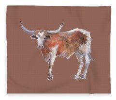 Heart Of Texas Longhorn Fleece Blanket