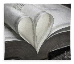 Heart Of The Book  Fleece Blanket