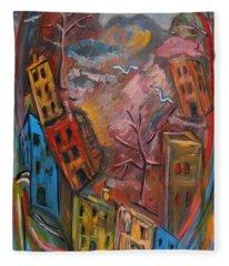 Heart Of The City Fleece Blanket