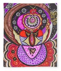 Heart Of The Feminine Fleece Blanket