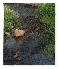 Heart Of The Stream Fleece Blanket