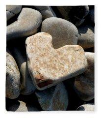 Heart Stone Fleece Blanket