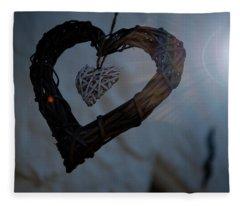 Heart With A Heart II Fleece Blanket