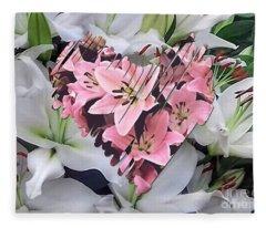 Heartfelt Lilies Fleece Blanket
