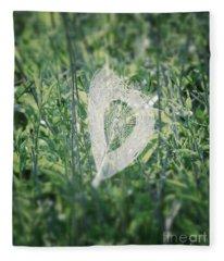 Hearts In Nature - Heart Shaped Web Fleece Blanket