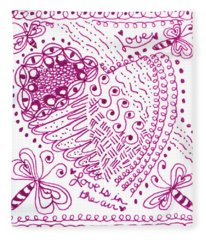 Hearts Fleece Blanket