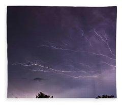 Heat Lightning Fleece Blanket