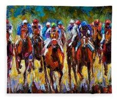 Heated Race Fleece Blanket