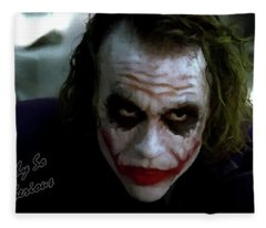 Heath Ledger Joker Why So Serious Fleece Blanket