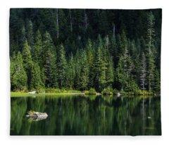 Heather Lake Fleece Blanket
