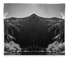 Heather Lake Reflection Fleece Blanket