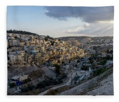 Heaven Shines On The City Of David Fleece Blanket