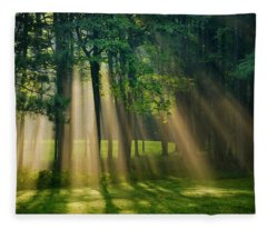 Fleece Blanket featuring the photograph Heavenly Light Sunrise by Christina Rollo