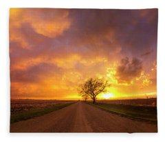 Heavens Gate Fleece Blanket