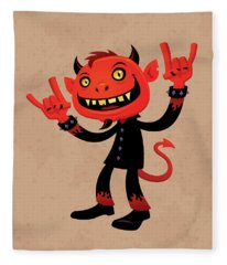 Heavy Metal Devil Fleece Blanket