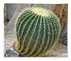 Hedgehog Cactus Fleece Blanket