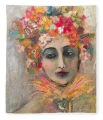 Hedy Lamore Fleece Blanket