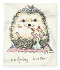 Hedgehog Heaven Fleece Blanket