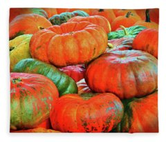 Heirloom Pumpkins Fleece Blanket