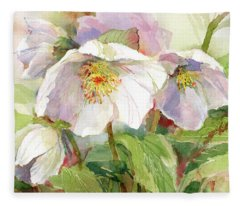 Hellebore Fleece Blanket