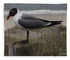 Hello Friend Seagull Fleece Blanket
