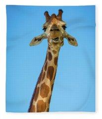 Hello Giraffe Fleece Blanket