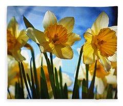 Hello Spring Fleece Blanket