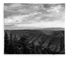Hells Canyon Drama Fleece Blanket