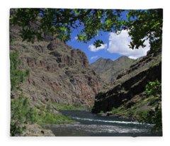 Hells Canyon Snake River Fleece Blanket